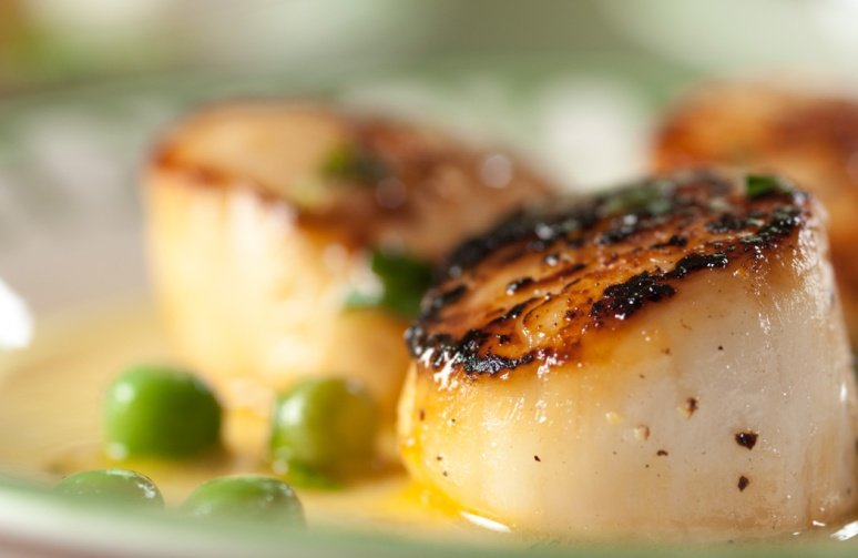 Scallops and peas-3